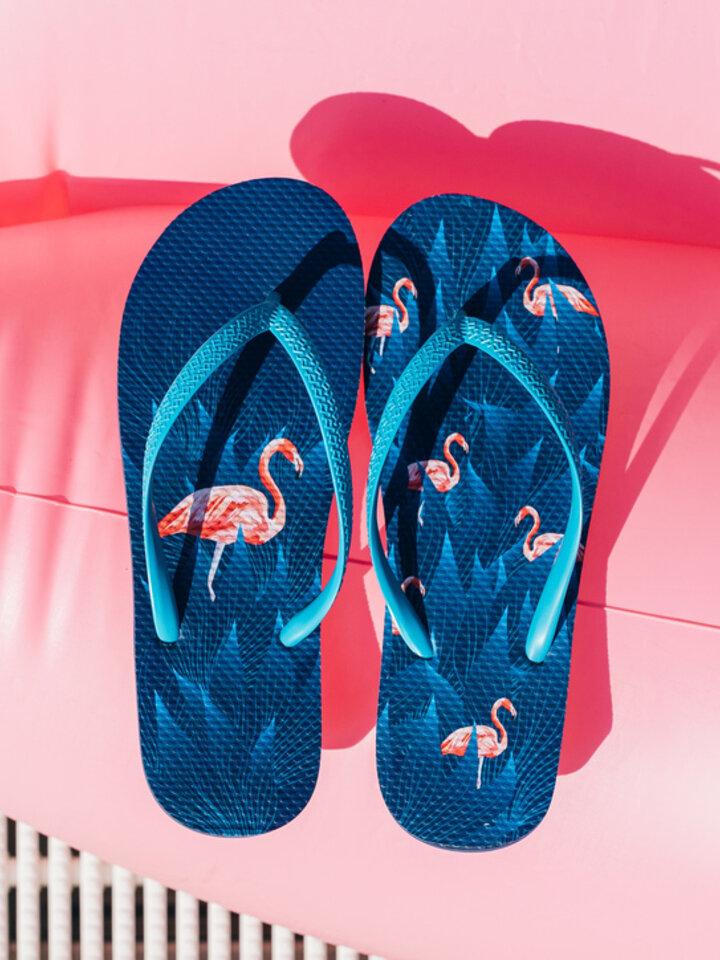 Sale Flip Flops Night Flamingo