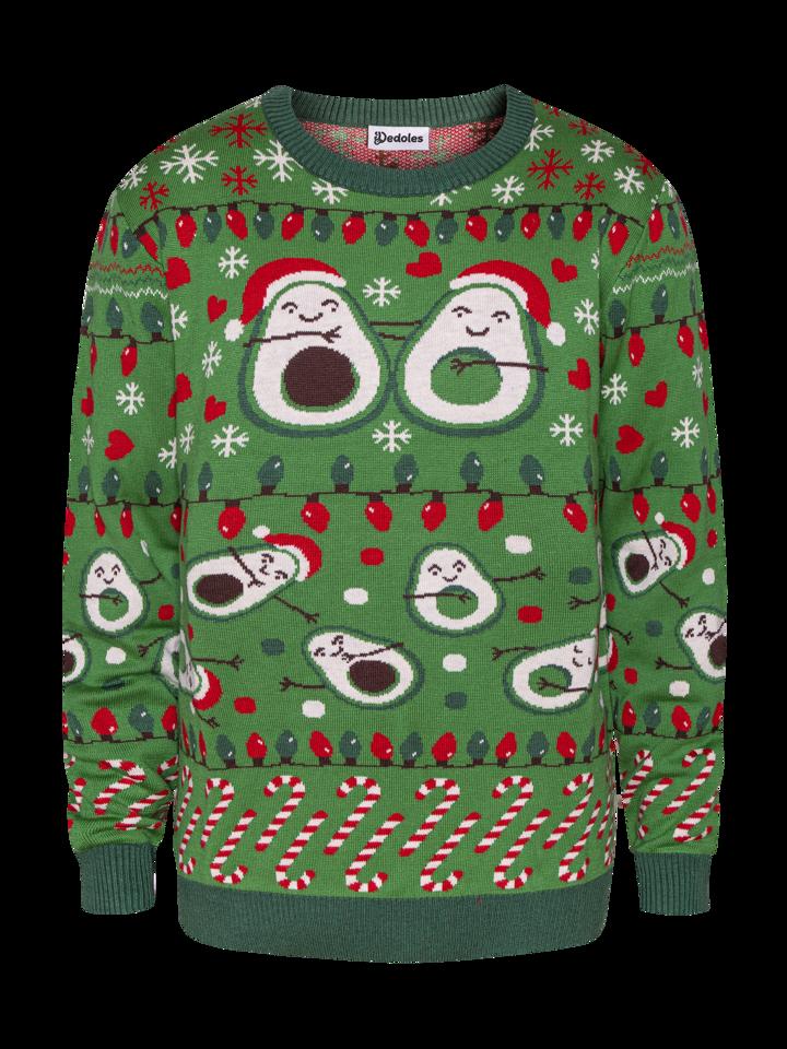 Potešte sa týmto kúskom Dedoles Živahni božični pulover Avokado ljubezni