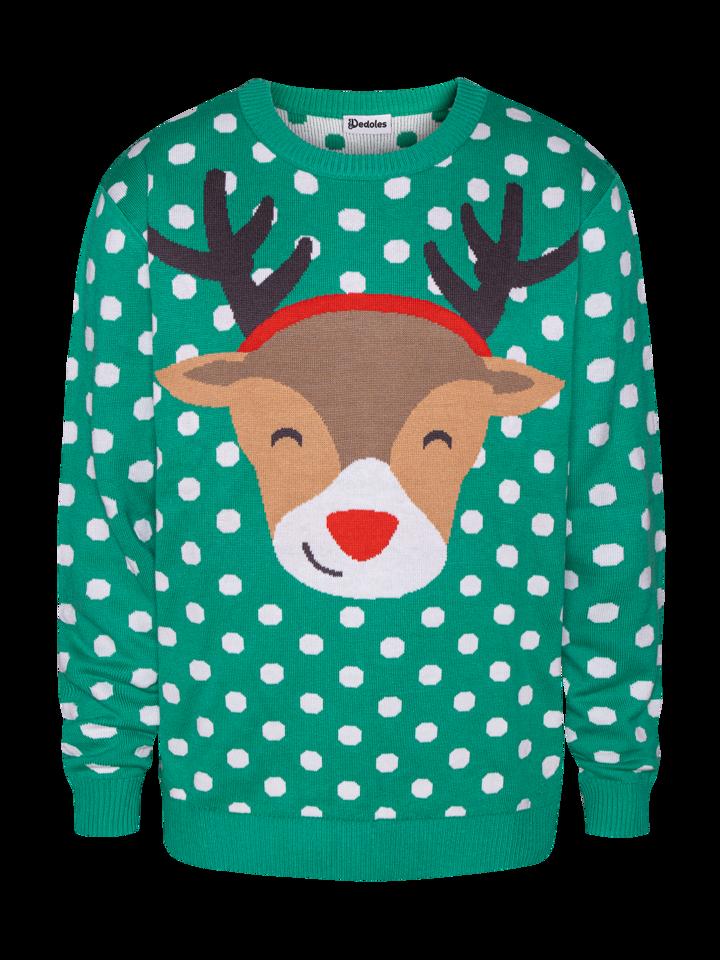 Foto Wesoły sweter świąteczny Rudolf
