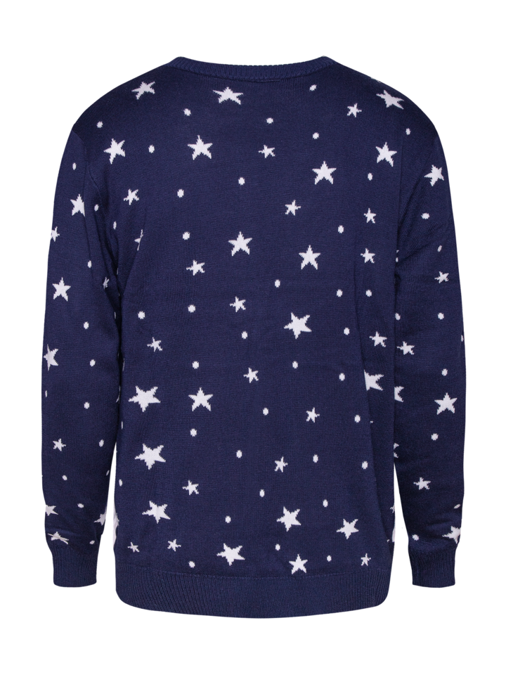 Tip na darček Živahni božični pulover Božiček in samorog