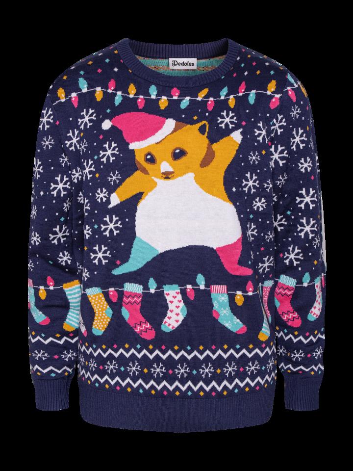 Pre dokonalý a originálny outfit Živahni božični pulover Hrček