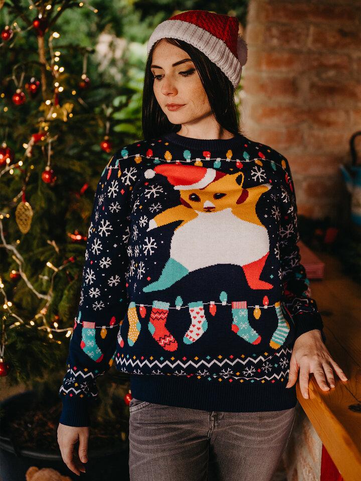 Potešte sa týmto kúskom Dedoles Živahni božični pulover Hrček