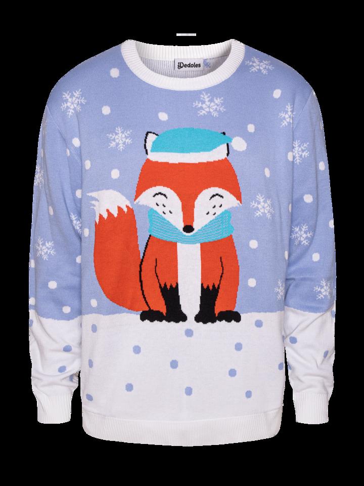 Foto Wesoły sweter świąteczny Zimowy lis