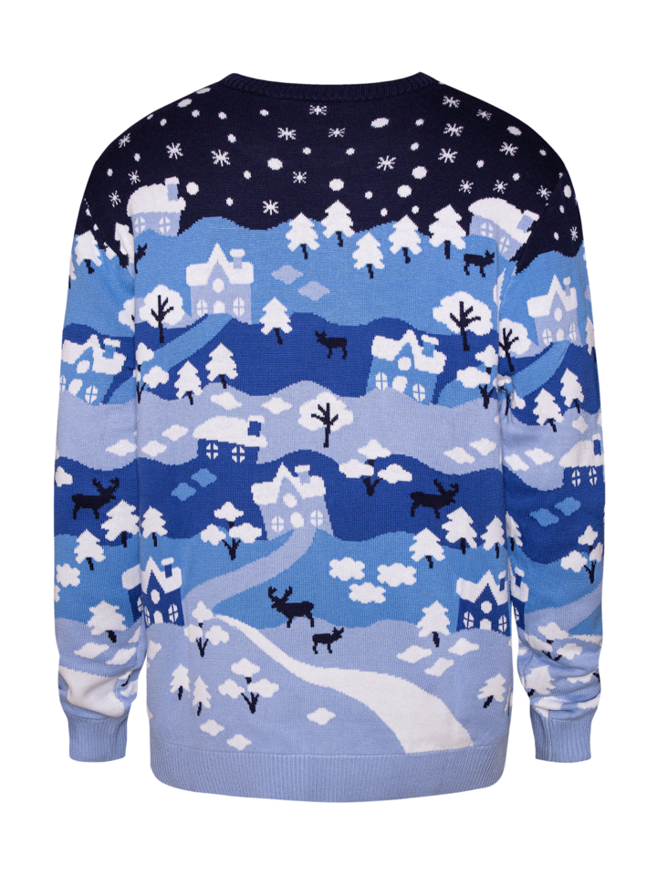 für ein vollkommenes und originelles Outfit Lustiger Weihnachtspullover Winterwunderland