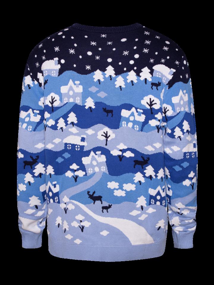 Pre dokonalý a originálny outfit Pull rigolo de Noël Paysage hivernal féérique