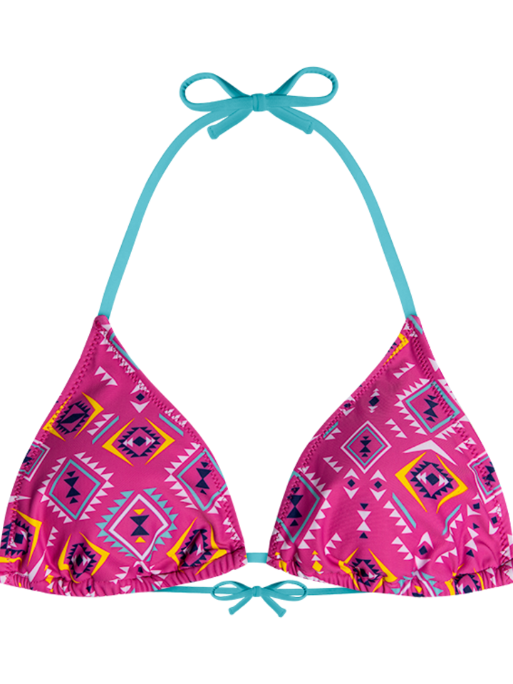 Pre dokonalý a originálny outfit Haut de bikini triangulaire rigolo - Aztèque