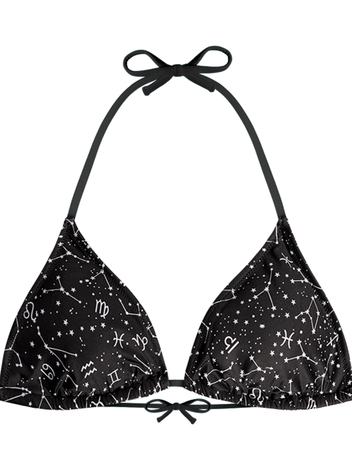 Lifestyle photo Triangle Bikini Top Zodiac Signs