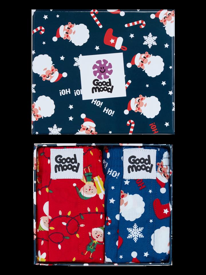 Lifestyle foto Vianočná darčeková krabička pánskych treniek