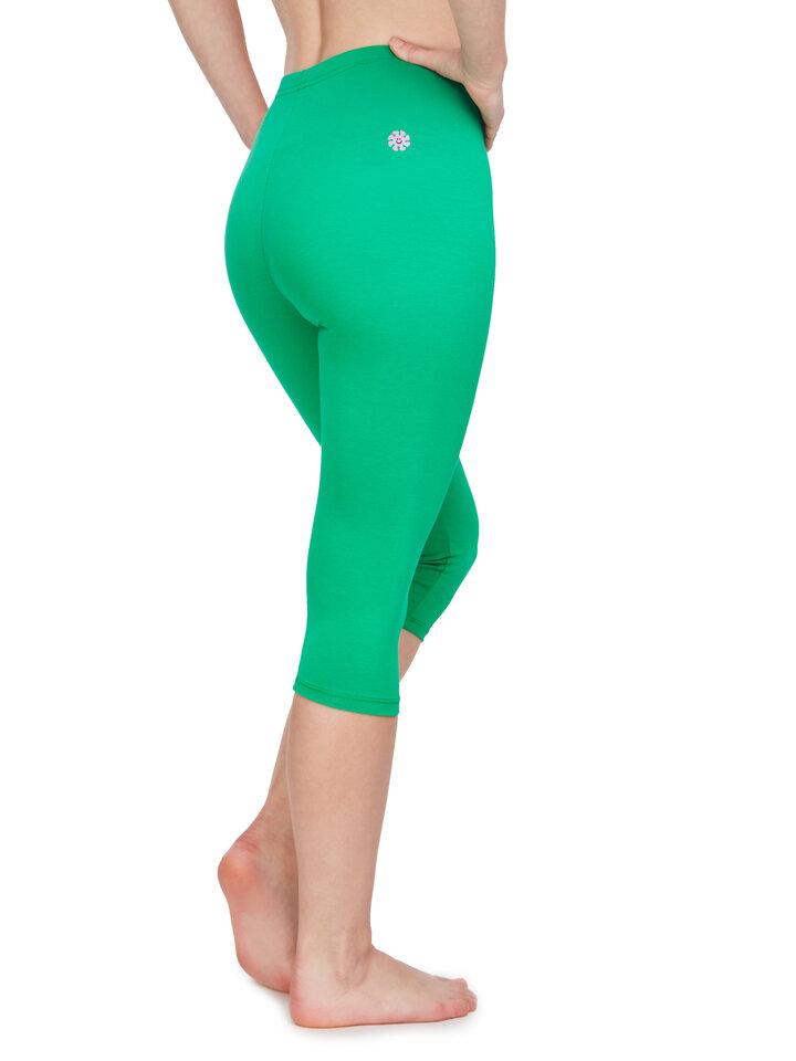 Gift idea Cotton 3/4 Leggings Green