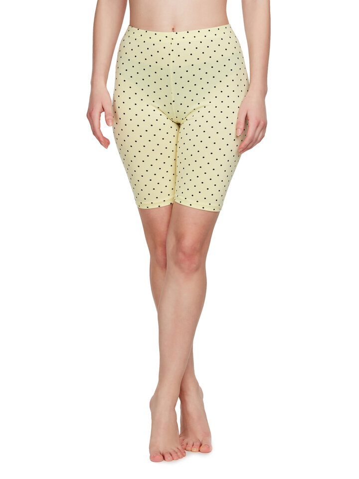 Gift idea Yellow Biker Shorts Dots