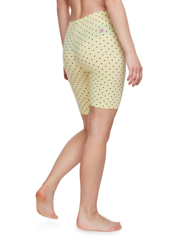 Original gift Yellow Biker Shorts Dots