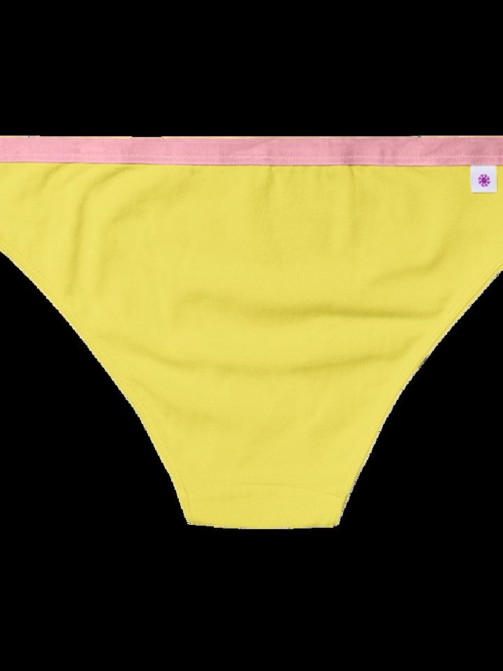 Sleva Žluté dámské kalhotky