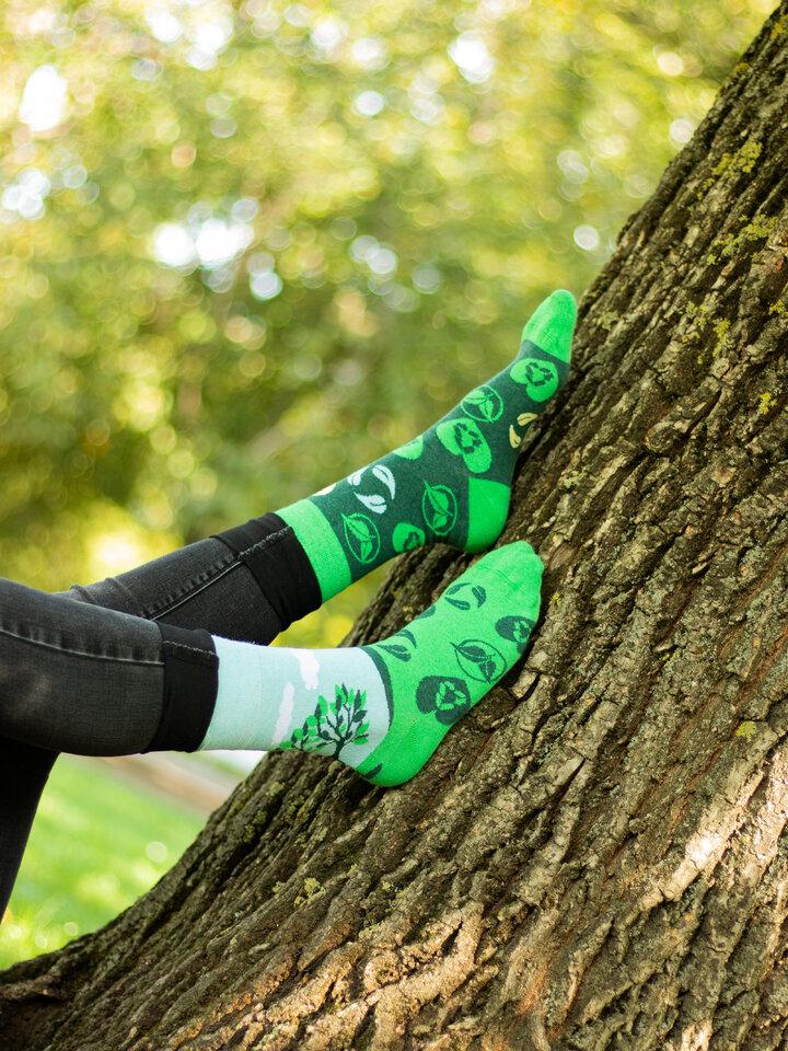 Lifestyle foto Veselé eko ponožky Zasaď strom