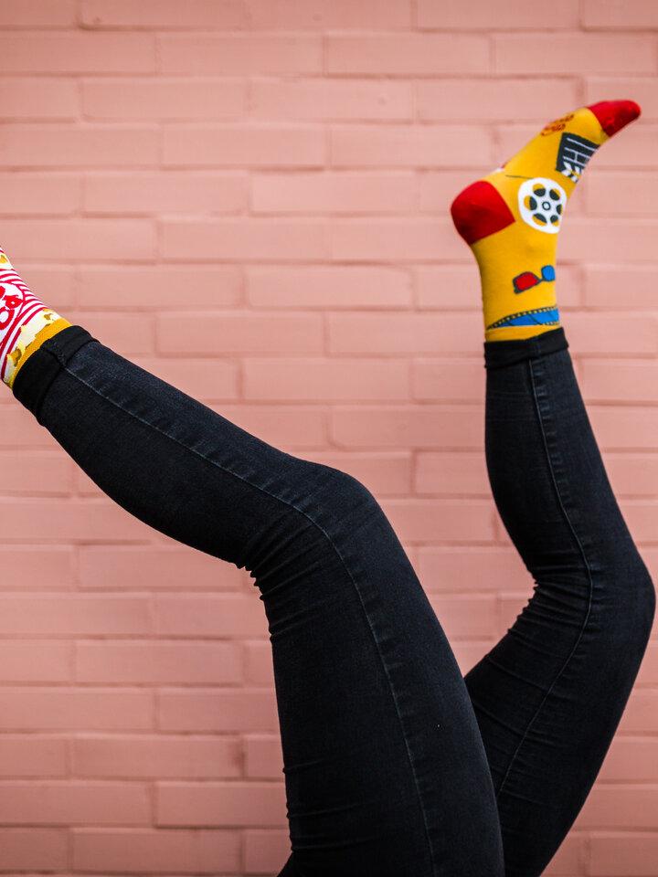 Lifestyle foto Vrolijke sokken Popcorn