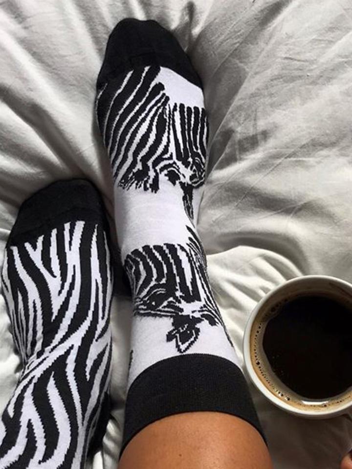 Zľava Veselé ponožky Zebra