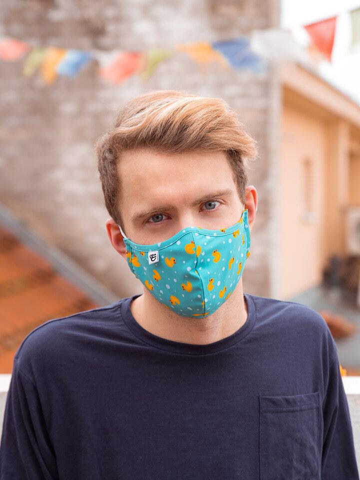 """Rabatt Lustige antibakterielle Gesichtsmaske Enten - Größe """"Groß"""""""