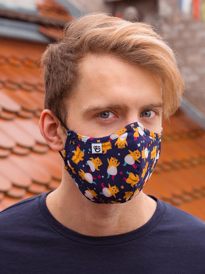 Výnimočný darček od Dedoles Masque facial antibactérien rigolo Hamsters en fête - Taille plus grande