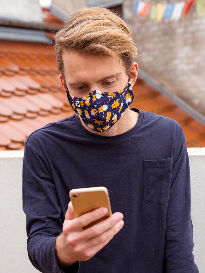 Tip na darček Masque facial antibactérien rigolo Hamsters en fête - Taille plus grande
