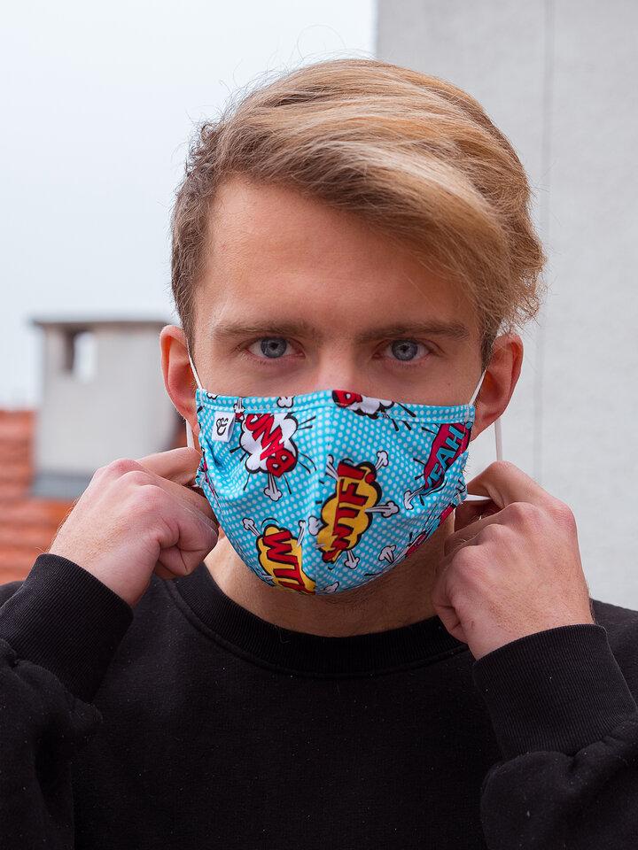 Výpredaj Masque facial rigolo Bandes animées