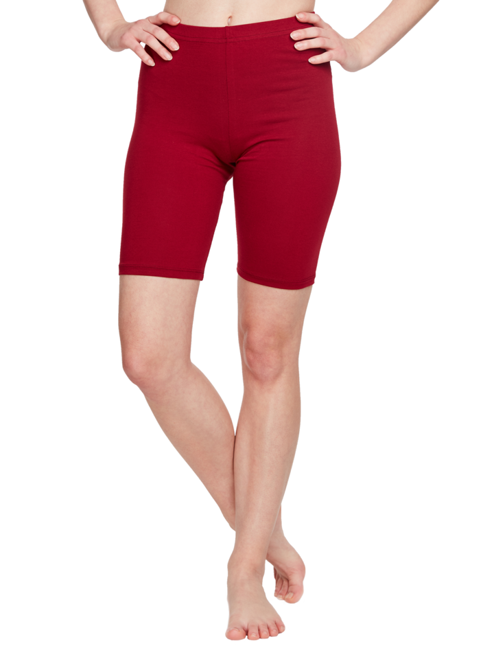 Sale Biker Shorts Burgundy