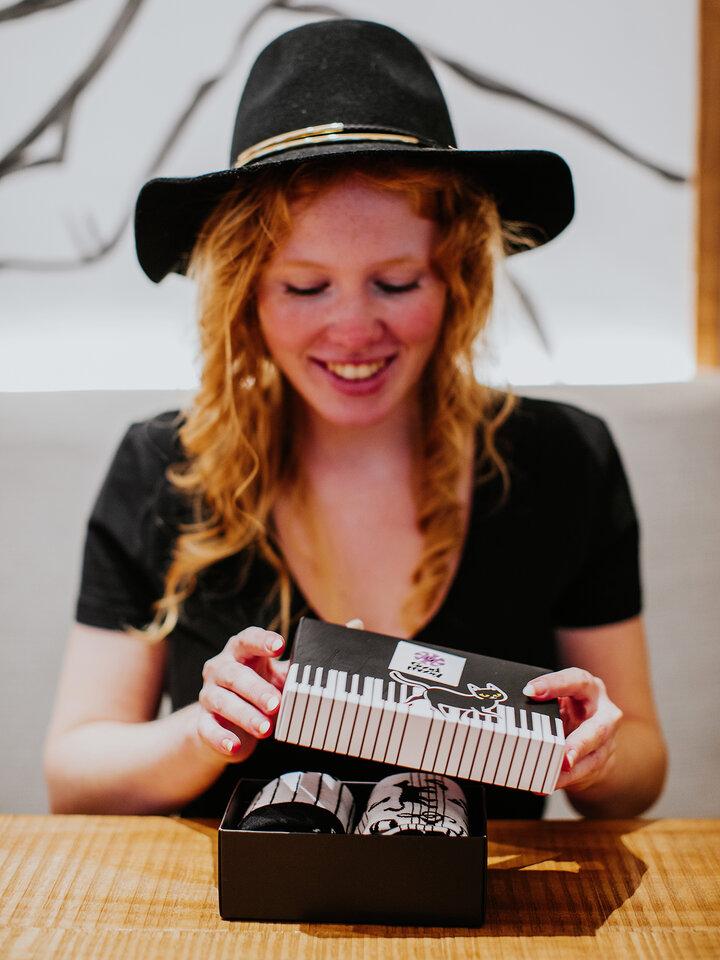 Obrázok produktu Coffret cadeau Chat jouant au piano