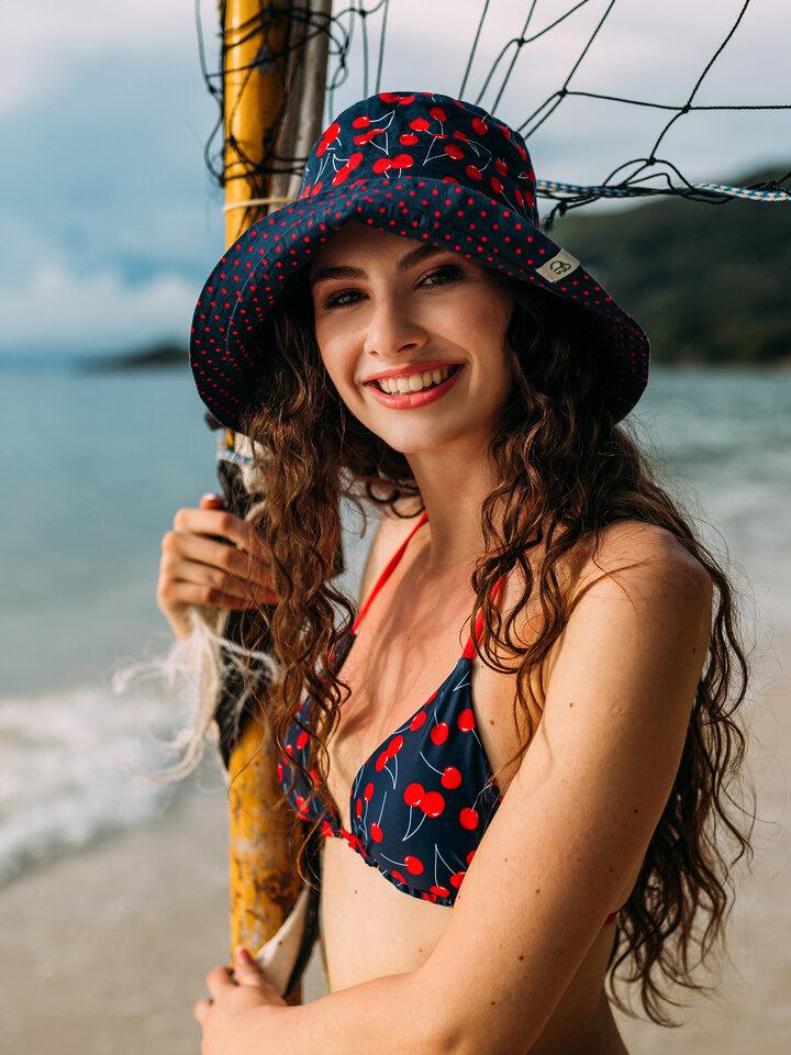 Výnimočný darček od Dedoles Sombrero alegre de pescador para mujer Cerezas