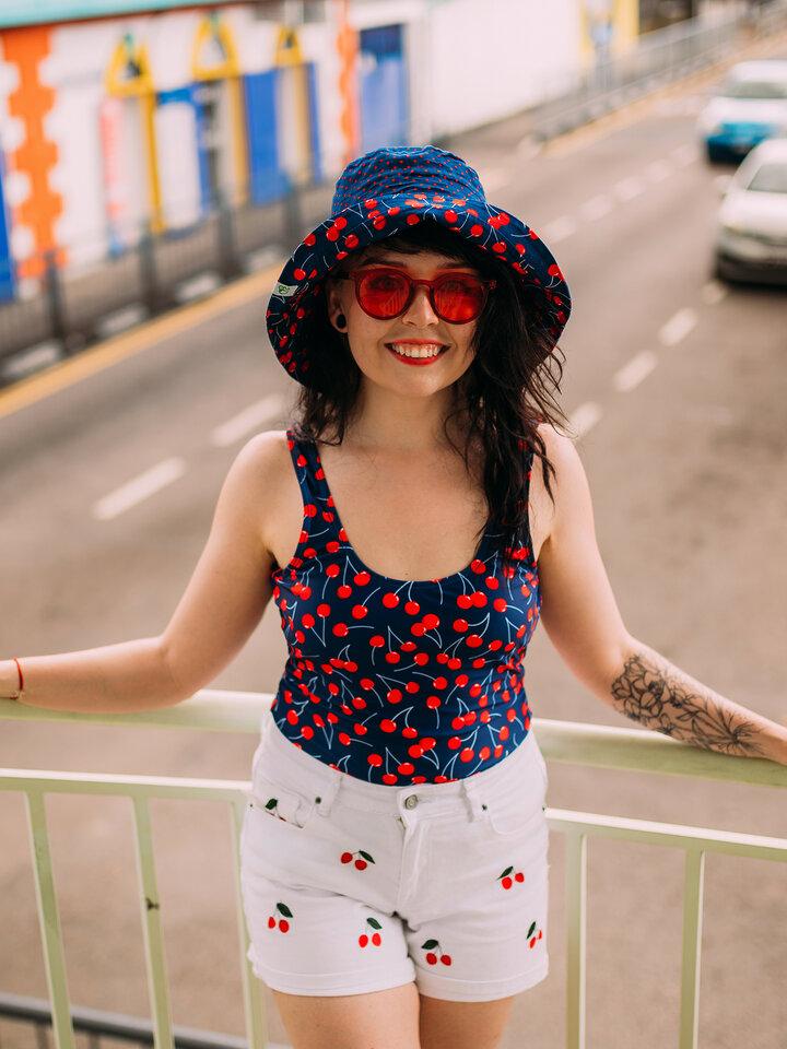 Tip na darček Sombrero alegre de pescador para mujer Cerezas