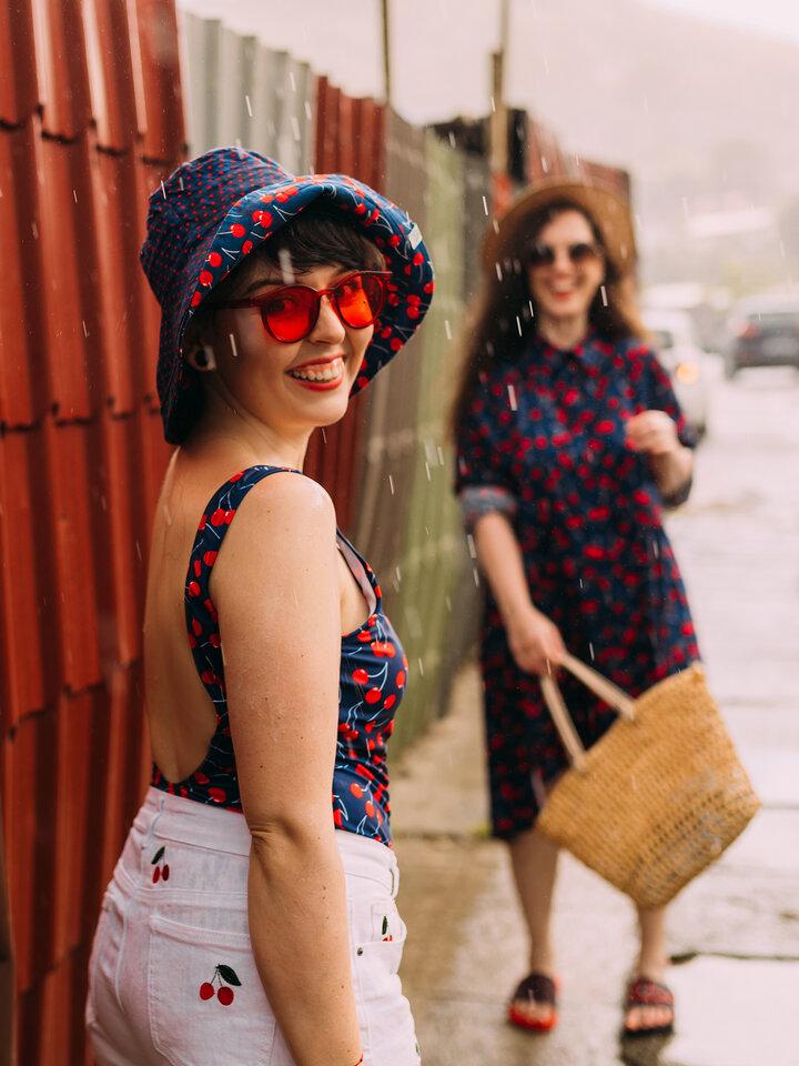 Obrázok produktu Sombrero alegre de pescador para mujer Cerezas