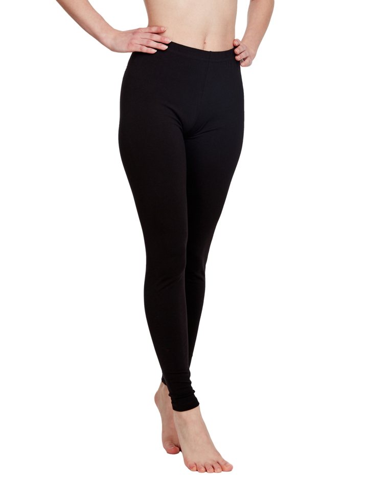 Sale Black Cotton Leggings
