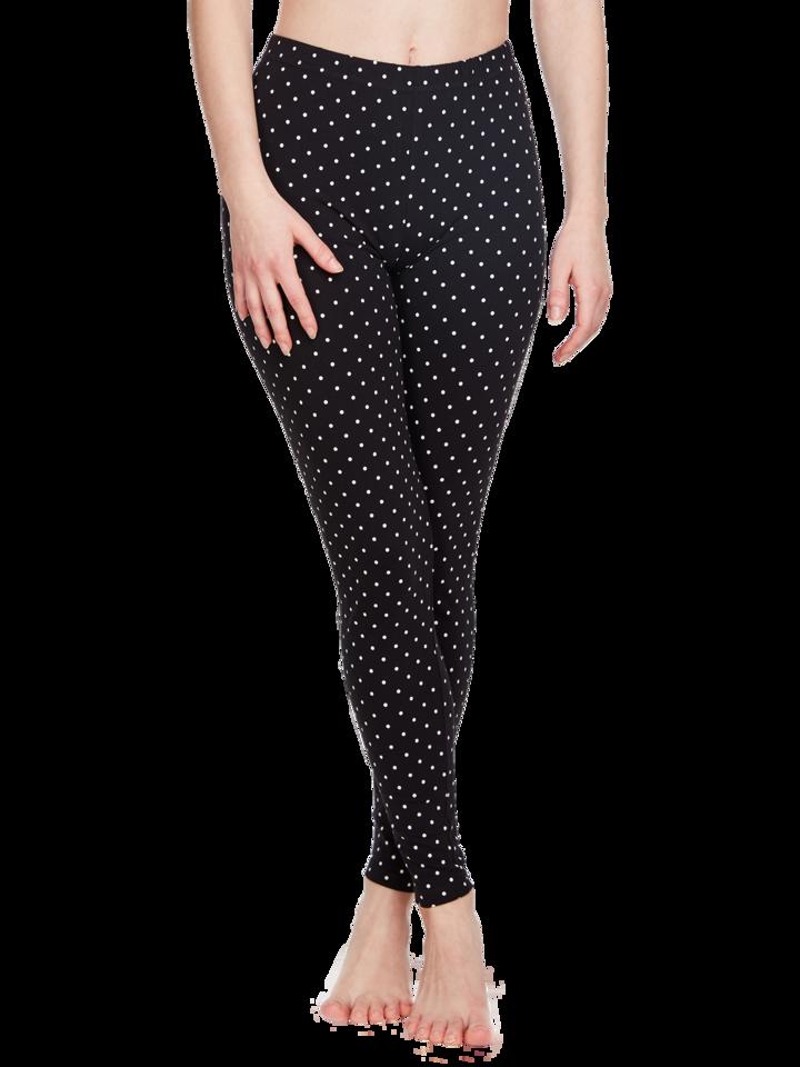 a tökéletes és egyedi ruházathoz Fekete pamut leggings Pöttyök