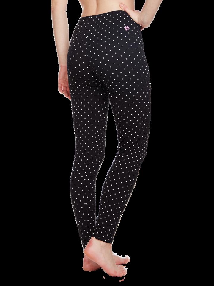 Potešte sa týmto kúskom Dedoles Zwarte katoenen leggings Stippen
