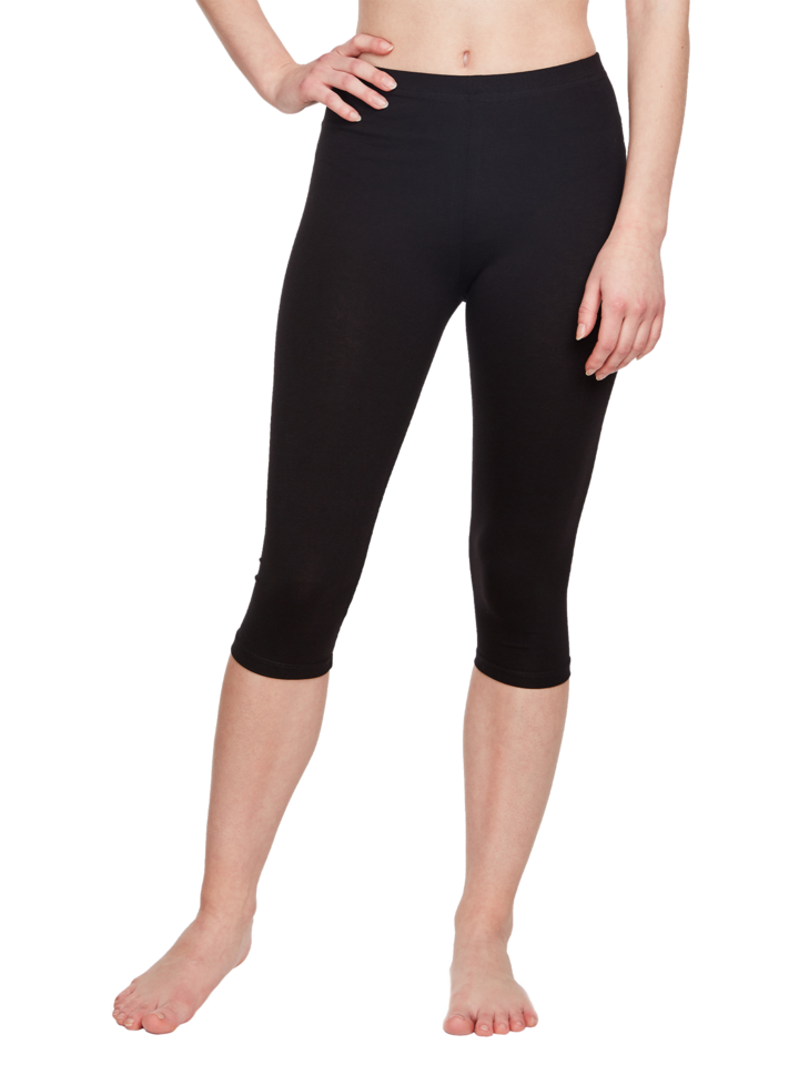 Lifestyle photo Cotton 3/4 Leggings Black