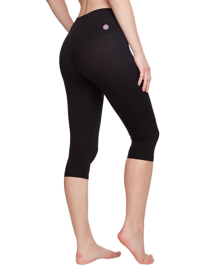 Original gift Cotton 3/4 Leggings Black