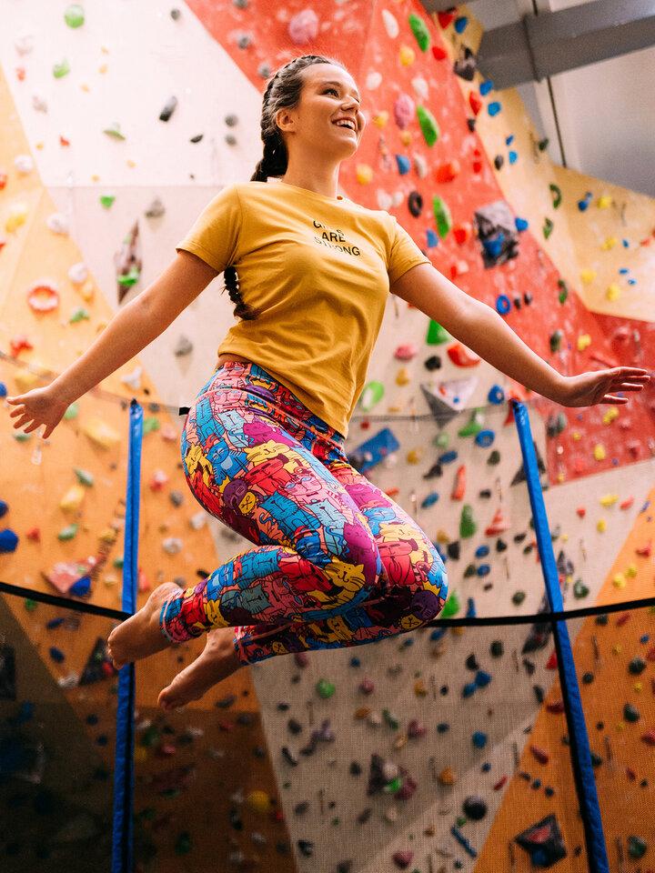 Lifestyle foto Leggings d'entraînement rigolos Chats colorés