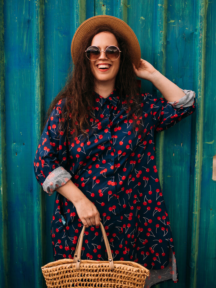 Lifestyle photo Shirt Dress Cherries