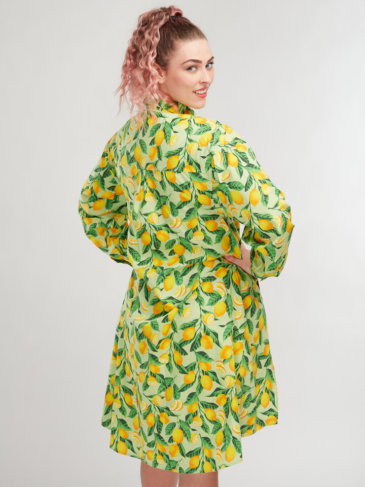 Tip na darček Živahna srajčna obleka Limone