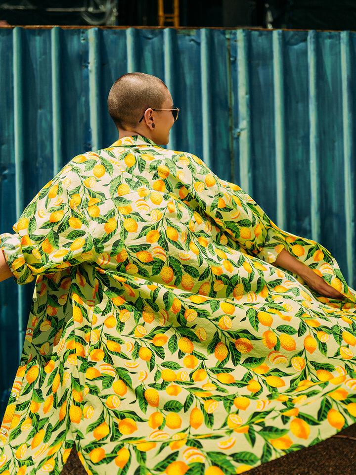 Výnimočný darček od Dedoles Živahna srajčna obleka Limone