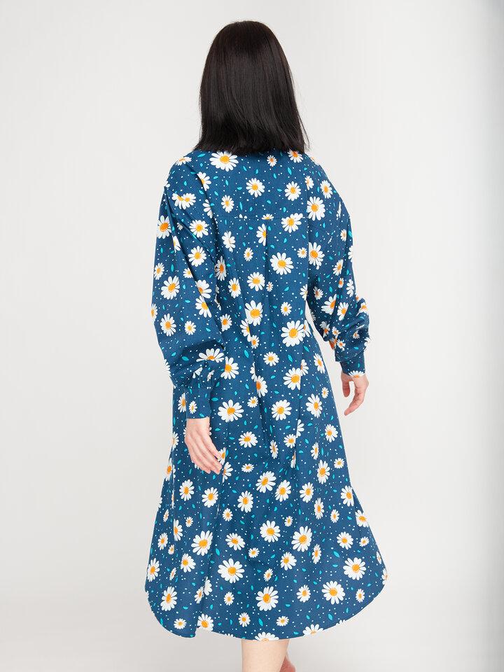 Pre dokonalý a originálny outfit Wesoła sukienka koszulowa Kwitnące stokrotki