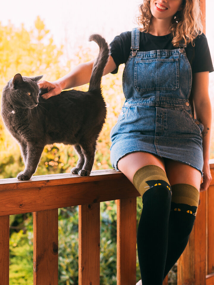Sale Over the Knee Socks Cat