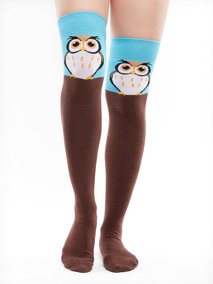 Original gift Over the Knee Socks Owl