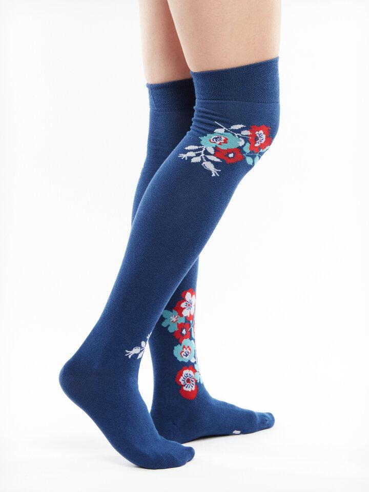 Original gift Over the Knee Socks Wild Flowers
