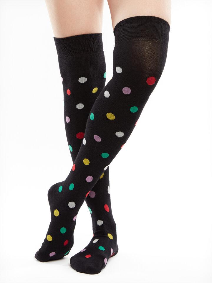 Pre dokonalý a originálny outfit Over the Knee Socks Dots All Over