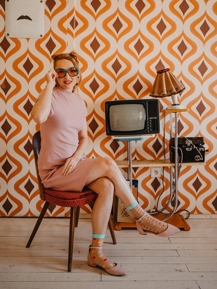 Pre dokonalý a originálny outfit Nylon Socks Dot World