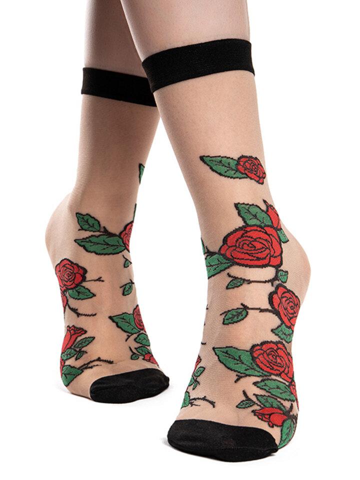 Original gift Nylon Socks Red Roses