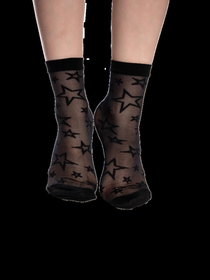 Potešte sa týmto kúskom Dedoles Весели найлонови чорапи Черни звезди