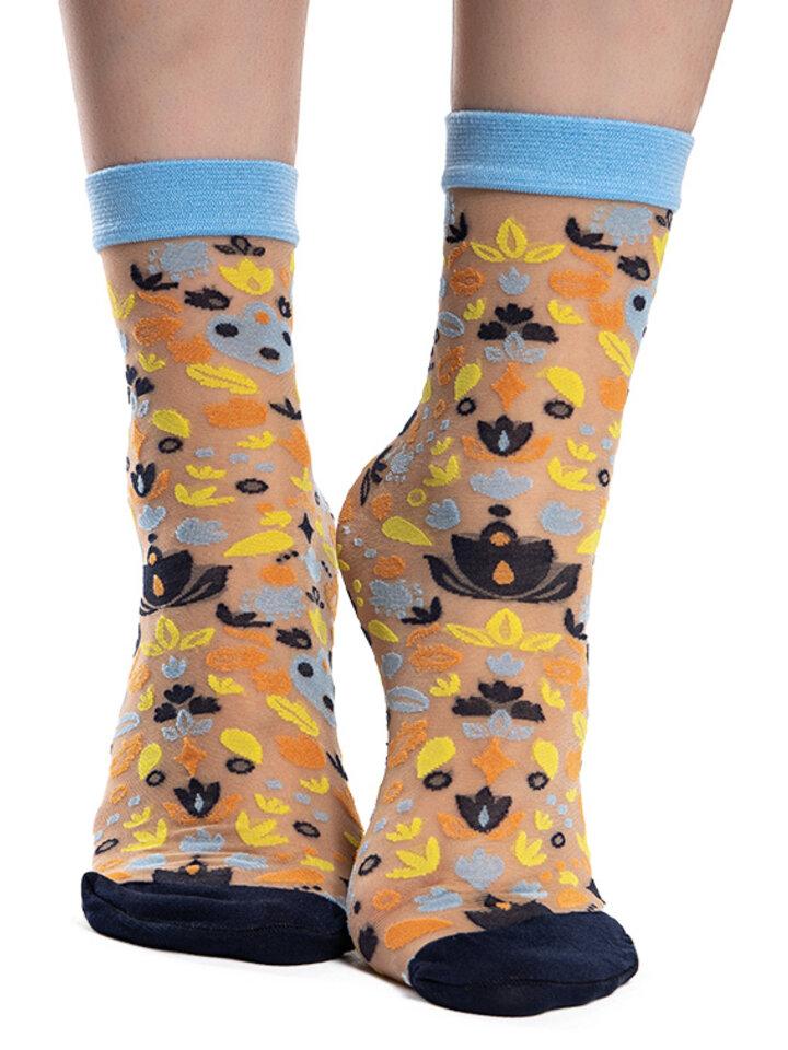Tip na dárek Veselé silonkové ponožky Folkové ornamenty