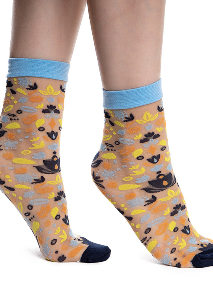 Výjimečný dárek od Dedoles Veselé silonkové ponožky Folkové ornamenty