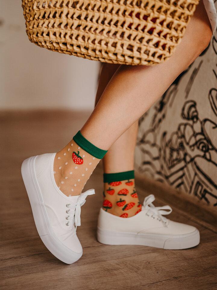 Original gift Nylon Socks Strawberry