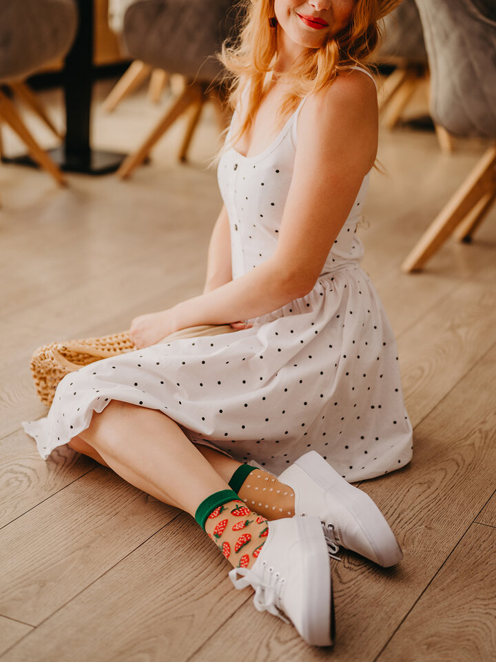 Gift idea Nylon Socks Strawberry