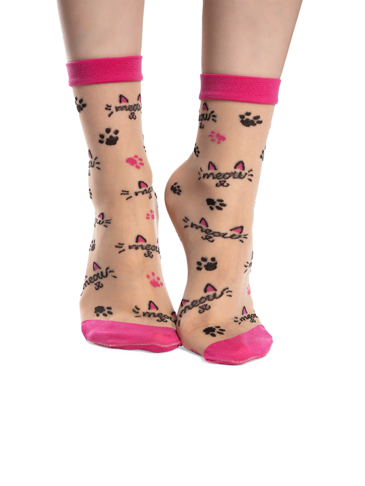 Gift idea Nylon Socks Meow